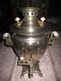 Samovar sovietic electric din crom