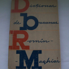 DICTIONAR DE BUZUNAR ROMAN-MAGHIAR DE KELEMEN BELA