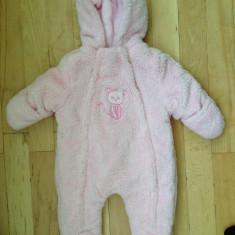 Salopeta de iarna pentru fete de la 6 luni, Culoare: Roz