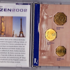 Franta set monede 1999-2001- 2002, 1+2+5+10+20+50 Eutocenti+1+2 EURO, in cutie, atentie la descriere