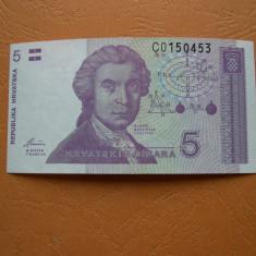 Croatia (Republica Hrvatska) 5 dinar 1991 UNC/aUNC C015