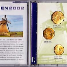 Olanda set monede 1999-2000-2001-2002, 1+2+5+10+20+50 Eutocenti+1+2 EURO, in cutie, atentie la descriere
