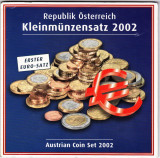 Austria 8 monede euro set 2002 in folder