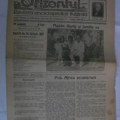 ZIARUL ORIZONTUL DIN 22 SEPTEMBRIE 1927