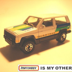 MATCHBOX INT'L MACAU--JEEP CHEROKEE-- ++2100 DE LICITATII !! - Macheta auto Matchbox, 1:64