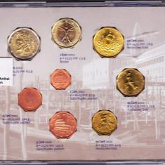 Italia set monetarie 2002, 1+2+5+10+20+50 Eutocenti+1+2 EURO in cutie sigilata