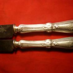 2 Manere de Cutit cu marcaj ,gravate manual ,sf. sec.XIX