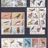 Păsări-colecţie cu serii ştampilate/neştampilate, peste 70 timbre, preţ excepţional, Natura, Alta