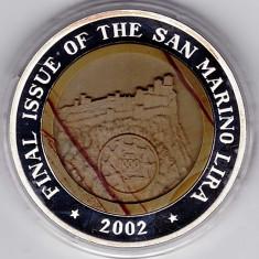 San Marino, 2002 ultimul an de batere a lirei, 10 WON Corea, argint 999% 33, 82 gr