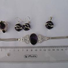 Vand set bijuterii argint 925 cu ametist