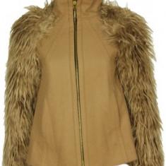 JAchete zara si paltoane - Jacheta dama Zara, Culoare: Camel, Negru, Lana