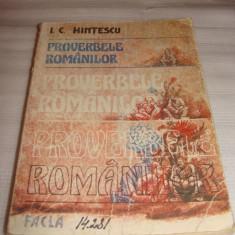 PROVERBELE ROMANILOR - I.C.Hintescu