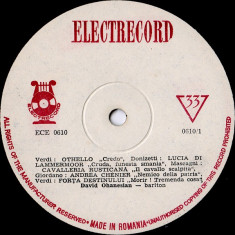 Verdi_Wagner_Donizetti_Enescu_David Ohanesian - Arii Din Opere - Othello_Cavalleria Rusticana_Forta Destinului_Tannhauser_Olandezul Zburator (Vinyl) - Muzica Clasica electrecord, VINIL