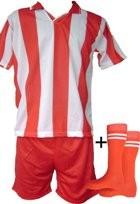 Echipamente de fotbal rosu-alb seniori foto