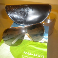 Ochelari de soare VERSACE originali, Femei, Gri, Metal