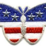 Emblema brodata adeziva - fluture SUA