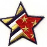 Stea brodata adeziva, steag american
