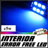 Led C5W 6 SMD 5050 lumina albastra