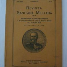 REDUCERE 20 LEI!!! REVISTA SANITARA MILITARA DIN NOIEMBRIE 1933