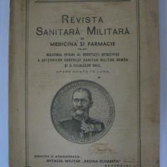 REDUCERE 15 LEI!!! REVISTA SANITARA MILITARA DIN IULIE 1936