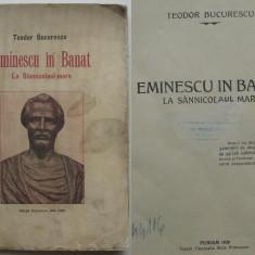 Eminescu in Banat la Sannicolaul Mare (Periam, Timis) cu ilustratii de epoca, editie 1928 - Carte Editie princeps