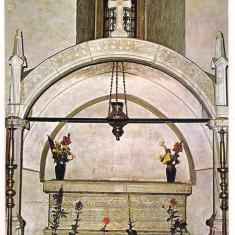 Carte postala(ilustrata)-SUCEAVA -Manastirea Putna Mormintul lui Stefan cel Mare - Carte Postala Moldova dupa 1918, Necirculata, Printata