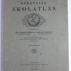 SKOLATLAS - ATLAS SCOLAR SUEDEZ - CUPRINDE 32 DE HARTI - INSITUTUL CARTOGRAFIC SUEDEZ ANUL 1936
