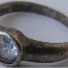 Inel vechi din argint cu piatra - de colectie (34)