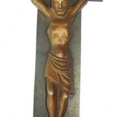 Crucifix mare din antimoniu semnat JJ