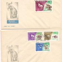 FDC (LP 641) - ANIMALE PREISTORICE, Dupa 1950