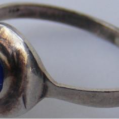 Inel vechi din argint cu piatra lapis lazuli (4) - de colectie