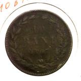 A.F. ROMANIA 10 BANI 1867 HEATON **