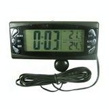 Ceas si termometru auto, cu senzor de interiorexterior/0905