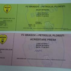 Bilet meci + acreditare presa FC BRASOV - PETROLUL Ploiesti 17.09.2011