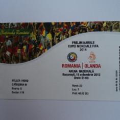 Bilet meci fotbal ROMANIA - OLANDA 16.10.2012