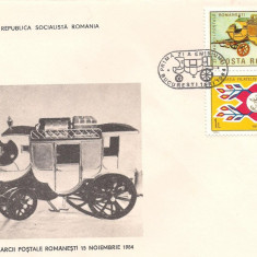 FDC (LP 1114) - ZIUA MARCII POSTALE ROMANESTI, Dupa 1950