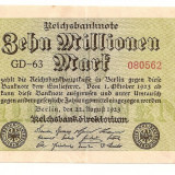 LL bancnota  Germania 10 milion marci 1923