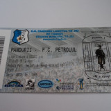 Bilet meci fotbal PANDURII TG.JIU - PETROLUL PLOIESTI 16.05.2012