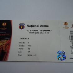 Bilet meci fotbal STEAUA - DINAMO 17.05.2012