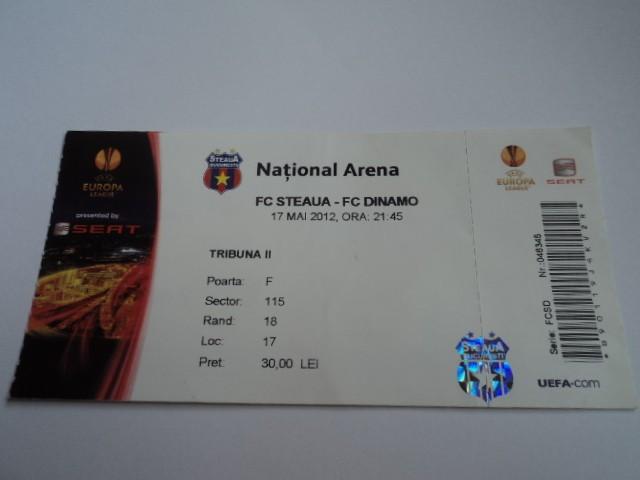 Bilet meci fotbal STEAUA - DINAMO 17.05.2012 foto mare