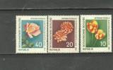GERMANIA 1961 - FLORI TRANDAFIRI, LALELE, GHERGHINE, serie nestampilata, B30