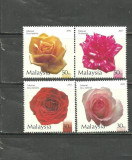 MALAYSIA 2003 - FLORA. FLORI. TRANDAFIRI, serie nestampilata, B19