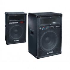 BOXE AMPLIFICATE/ACTIVE 15 INCH CU CITITOR DE STICK USB SI CARD,EQ,MIC.,DJ,KARAOKE,BAR