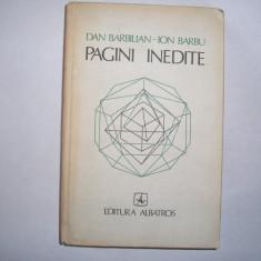 DAN BARBILIAN-ION BARBU - PAGINI INEDITE,r27