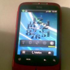 HTC Wildfire A3333 Android 2.3.7 CYANOGENMOD 7.2 - Telefon mobil HTC Wildfire, Rosu, Neblocat