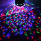 Cumpara ieftin nou! SUPER LUMINA DISCO-SFERA MAGIC BALL- MULTICOLORA PE LEDURI RGB 3 WATT,FOARTE PUTERNICA.IDEALA DISCO,DJ,PARTY,ACASA.