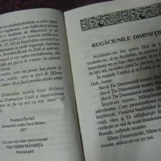 ,,BIBLIE,,CARTE DE RUGACIUNI,,MICA PRAVILIOARA-CELE SAPTE LAUDE ,RUGACIUNI SI ACATISTE,VECHE