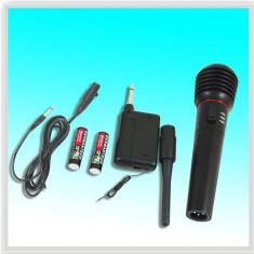 MICROFON WIRELESS SEMIPROFESIONAL, DJ, DISCO, KARAOKE+RECEIVER+CADOU JACK PT. COMPUTER! - Echipament karaoke