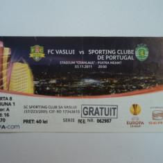 Bilet meci fotbal FC VASLUI - SPORTING Lisabona 03.11.2011