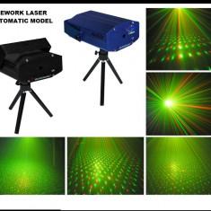 BLACK FRIDAY! LASER DISCO 3D STAR SHOWER ROSU+VERDE.EFECTE 3D, OFERTA 1+1GRATIS!